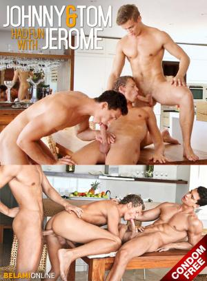 BelAmiOnline – Johnny Bloom and Tom Pollock fuck Jerome Exupery bareback