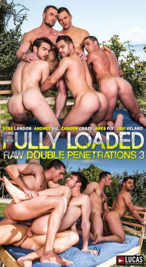 LucasEntertainment – Fully Loaded: Raw Double Penetrations 3 – Stas Landon, Andrey Vic, Zander Craze, Ares Fly &  Javi Velaro have a bareback sex party