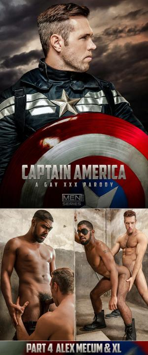 SuperGayHero – Captain America: A Gay XXX Parody, Part 4 – Alex Mecum fucks XL – Men.com