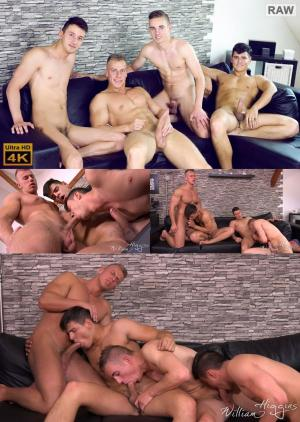 WilliamHiggins – Wank Party 2016 #07, Part 1 RAW – WANK PARTY – Bened Faust, Bradley Cook, Filip Vacek & Honza Onus – Bareback