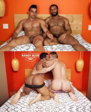 RandyBlue – Beefy Jay Landford gets his first bareback cream pie from Latin body builder Jacob Taylor
