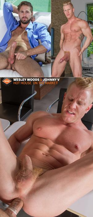 HotHouse – On the Market – Wesley Woods goes balls deep on Johnny V's muscle ass
