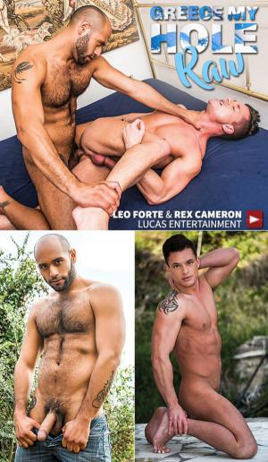 Lucas Entertainment – Greece My Hole Raw – Leo Forte gives Rex Cameron a bareback pounding