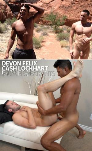 GuysInSweatpants – Cash Lockhart takes Devon Felix's load – Bareback