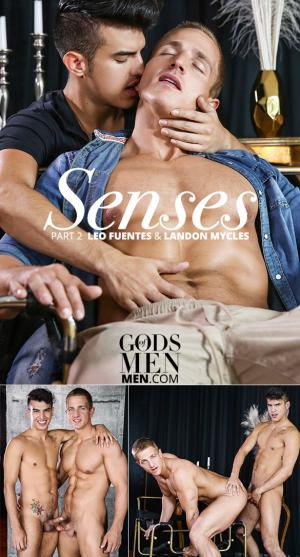 GodsofMen – Senses Part 2 – Landon Mycles bottoms for Leo Fuentes – Men.com