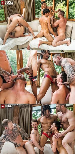 Lucas Entertainment – Seven-Man Orgy Featuring Dylan James, Alejandro Castillo, And Drae Axtell – Bareback