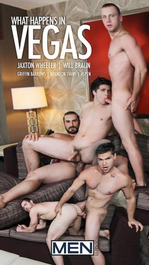 JizzOrgy – What Happens in Vegas Part 4 – Jaxton Wheeler, Will Braun, Aspen, Griffin Barrows & Brandon Evans – Men.com