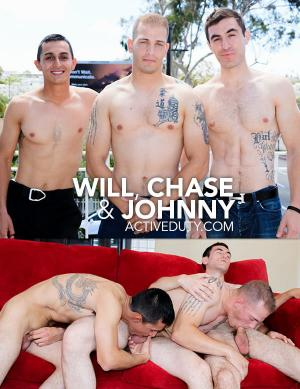 ActiveDuty – Will, Chase & Johnny – Bareback
