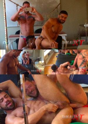 DarkAlleyXT – Tearing Up Ass Part 1 – Matthias von Fistenberg, Wagner Vittoria & Diego Lauzen – Bareback