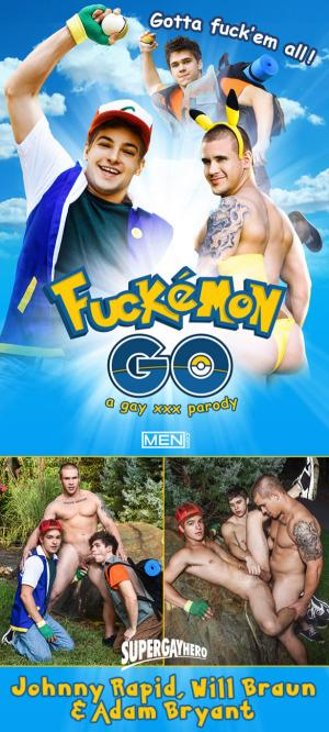 SuperGayHero – Fuckemon Go – A Gay XXX Parody – Will Braun & Johnny Rapid bottom for Adam Bryant – Men.com