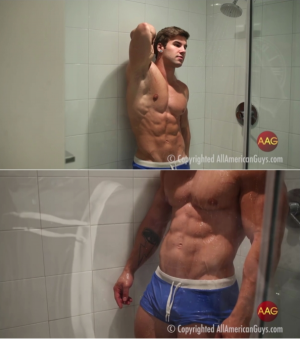 AllAmericanGuys – Jake B. sexy water photo shoot