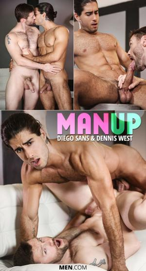 DrillMyHole – Man Up – Diego Sans fucks Dennis West  – Men.com