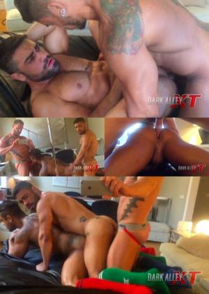 DarkAlleyXT – Tearing Up Ass Part 2 – Matthias von Fistenberg, Wagner Vittoria & Diego Lauzen – Bareback