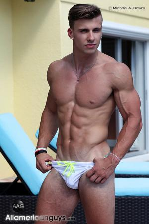 AllAmericanGuys – Derek P. under the bridge shoot