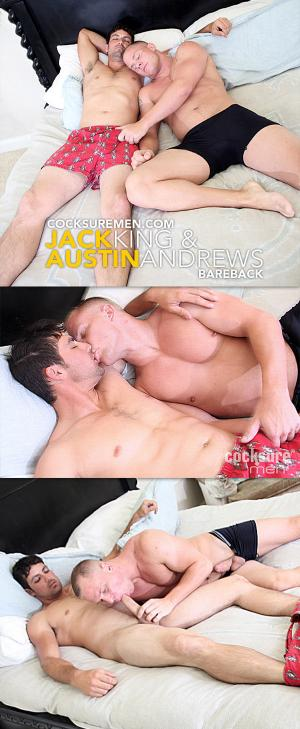 CocksureMen – Jack King Barebacks Austin Andrews
