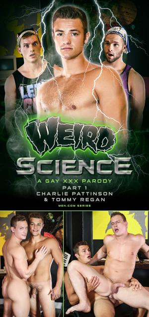 DrillMyHole – Weird Science – A Gay XXX Parody, Part 1 – Charlie Pattinson fucks Tommy Regan – Men.com