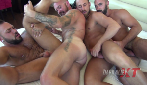 DarkAlleyXT – Group Pound This Ass – Bareback