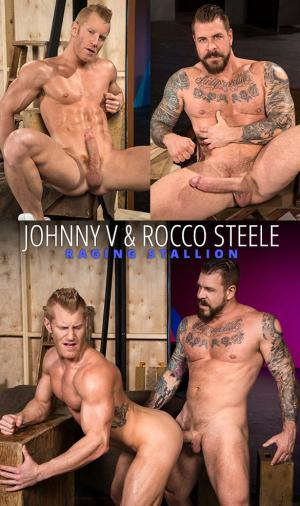 Raging Stallion – Backstage Pass 2 – Johnny V gets pounded by Rocco Steele and his enormous cock