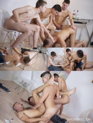 Hardkinks – Alpha Frats Vs Landlord – Alec Loob, Clyde Walton, Dmitry Osten & Dominique Kenique