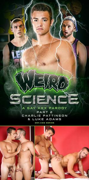 DrillMyHole – Weird Science – A Gay XXX Parody, Part 2 – Charlie Pattinson fucks Luke Adams – Men.com