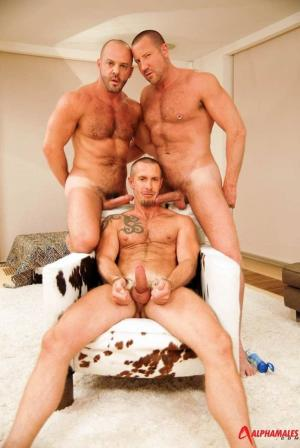 AlphaMales – Spit-Roasting A Top Turned Bottom – Carlo Cox , Trojan Rock & Rocco Banks