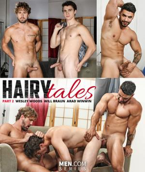 DrillMyHole – Hairy Tales, Part 2: Worship Me – Wesley Woods and Will Braun get pounded by Arad Winwin – Men.com