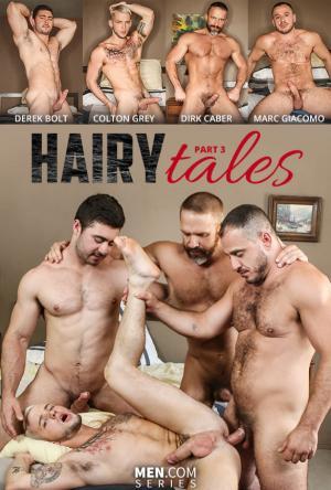 JizzOrgy – Hairy Tales, Part 3: Bear to the Bone – Colton Grey gets fucked by Derek Bolt, Dirk Caber & Marc Giacomo – Men.com