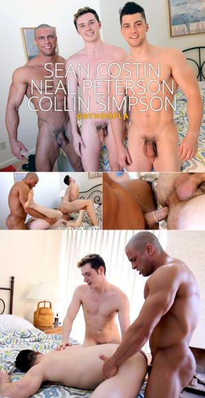 GayHoopla – Collin Simpson, Sean Costin and Neal Peterson's hot threeway fuck