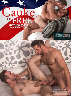 TitanMen – Cauke for Free – Big-dicked studs Matthew Bosch and Alex Mecum flip fuck