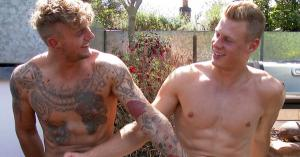 EnglishLads – Straight Hunks Dan and Danny Getting Their 1st Man Wank and Jizz Goes Everywhere!  – Dan Fellows & Danny McCaw