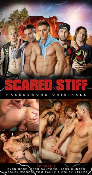 NakedSword – Scared Stiff: Episode 4 – Killer Orgy – Ryan Rose, Seth Santoro, Jack Hunter, Wesley Woods, Tom Faulk & Colby Keller