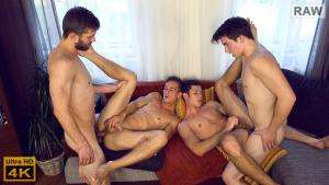 WilliamHiggins – Wank Party 2016 #11, Part 2 RAW – WANK PARTY – Adam Rezal,  Dusan Polanek,  Milan Major &  Nikol Monak