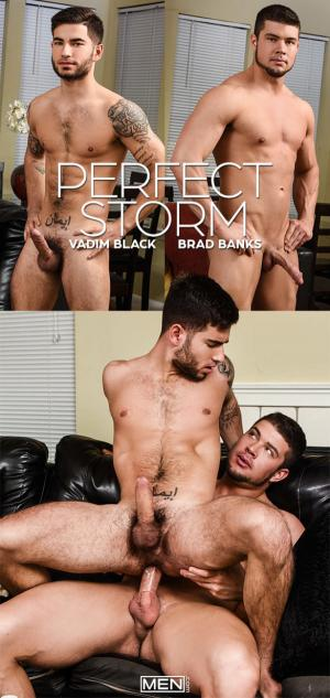 DrillMyHole – Perfect Storm – Vadim Black rides Brad Banks' big cock – Men.com