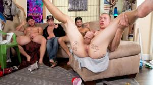 DickDorm – Please Fuck Me Hard – Charlie Pattinson, Johnny Cohen, Tobias & Trevor Long – Bareback – RealityDudes