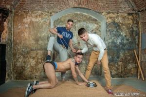 YoungBastards – Doggy Alec Loob Trained by Two Brutal XL Macho Fuckers – Josh Milk, Dmitri Osten & Alec Loob