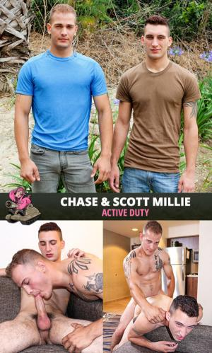 ActiveDuty – Chase bangs Scott Millie bareback