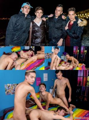 FrenchTwinks – A Dreamy Twinks Orgy – Matteo Lavigne, Loic Miller, Kevin Ventura & Paul Delay