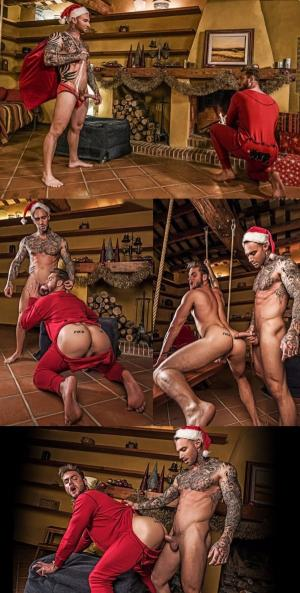 LucasEntertainment – Dylan James Comes Down Ace Era's Chimney This Christmas – Bareback