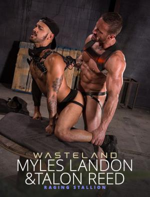 RagingStallion – Wasteland – Myles Landon pounds Talon Reed