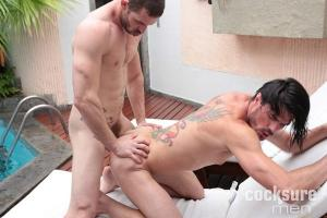 CockSureMen – John Cruz Barebacks Adan Stefan