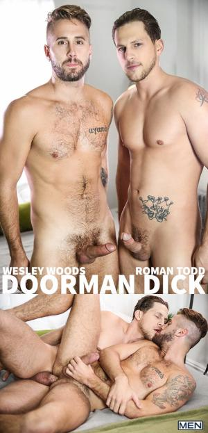 DrillMyHole – Doorman Dick – Roman Todd fucks Wesley Woods – Men.com