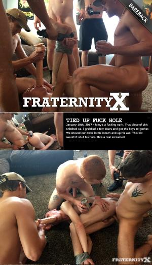 FraternityX – Tied Up Fuck Hole – Bareback