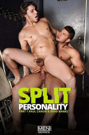 DrillMyHole – Split Personality Part 1 – Paul Canon rides Brad Banks' thick cock – Men.com