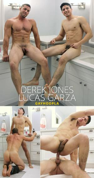GayHoopla – Derek Jones pops Lucas Garza's ass cherry