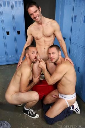 MenOver30 – First Time 3-Way – Cameron Kincade, Dustin Steele & Hans Berlin