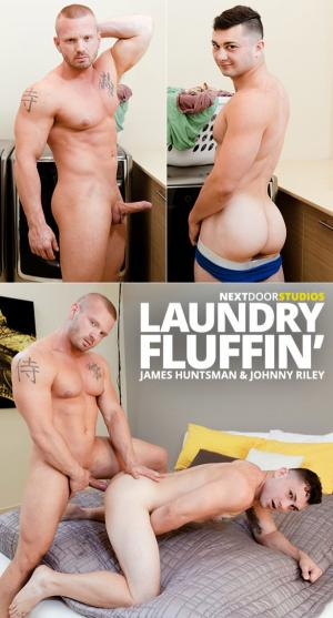 NextDoorBuddies – Laundry Fluffin – James Huntsman fucks Johnny Riley
