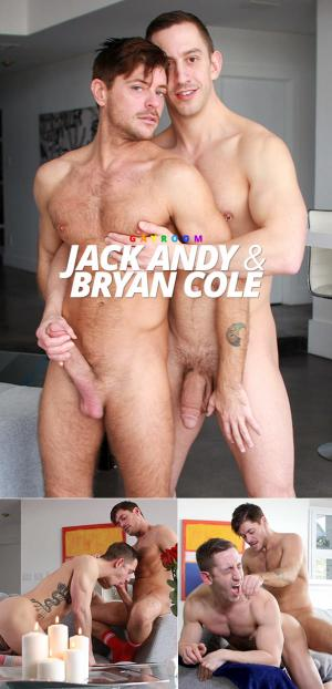 Manroyale – Strawberries with a Kiss – Bryan Cole rides Jack Andy's thick dick