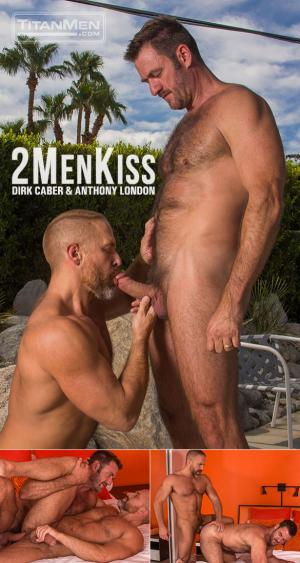 TitanMen – 2 Men Kiss – Muscle daddies Dirk Caber and Anthony London flip fuck