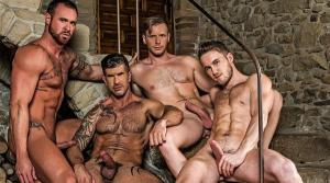 LucasRaunch – Piss Play – Marq Daniels, Michael Roman, Adam Killian & Brian Bonds