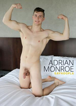 GayHoopla – Newcomer Adrian Monroe rubs one out – Solo